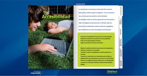 La nula accesiblidad de Telefónica en su campaña Progreso Responsable