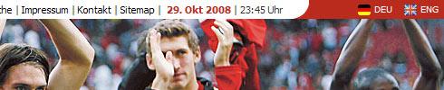 Menú Idiomas de la web del Bayer Leverkusen