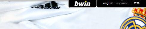 Menú de Idiomas de la web del Real Madrid