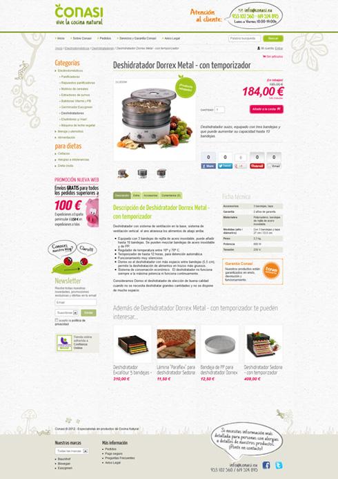 Ruben Divall: Ficha de Producto de la web de Conasi